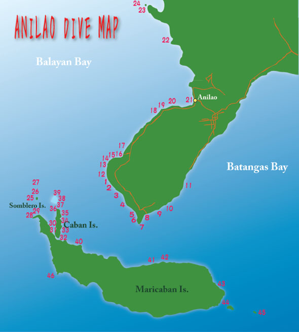 anilao dive map