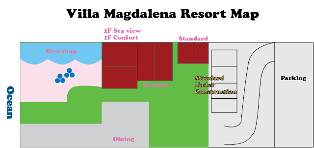 anilao villa magdalena resort map