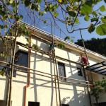 雨樋と天井の作業開始時。