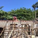 ダイブショップ屋根骨組み。