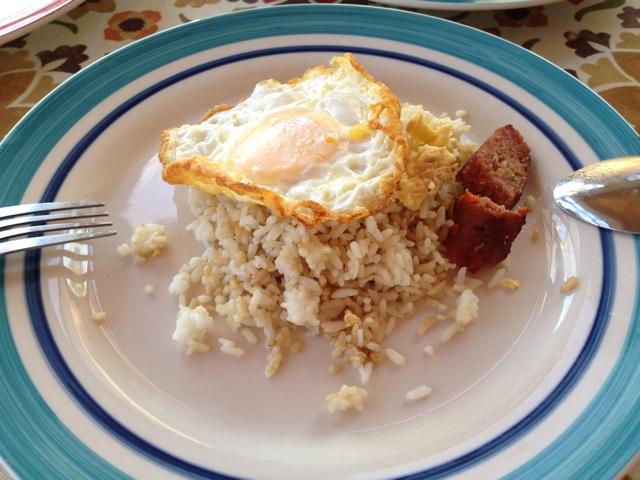 腹痛の朝食