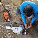 削岩機修理