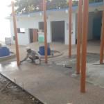 器材干場の床化粧セメントはり