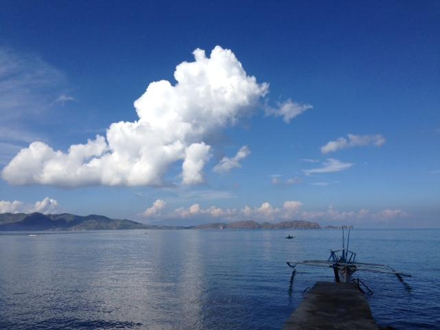 バンカーボートと海と空