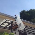 ベランダの屋根交換