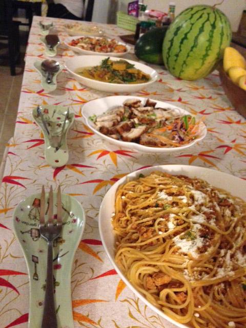 アニラオのディナー