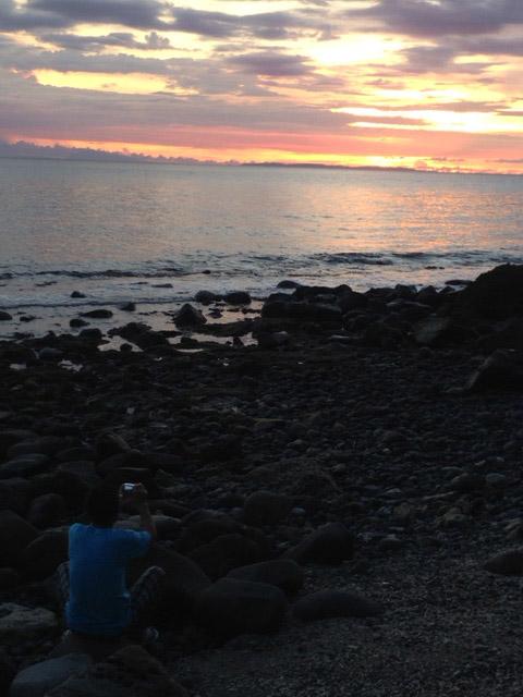 アニラオの夕日の時間