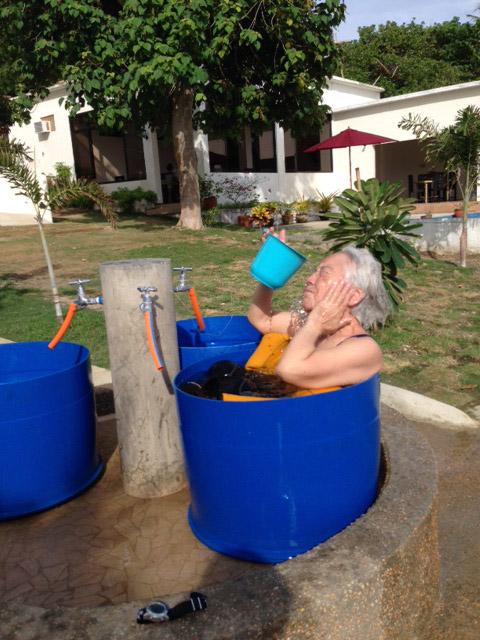 太陽光風呂