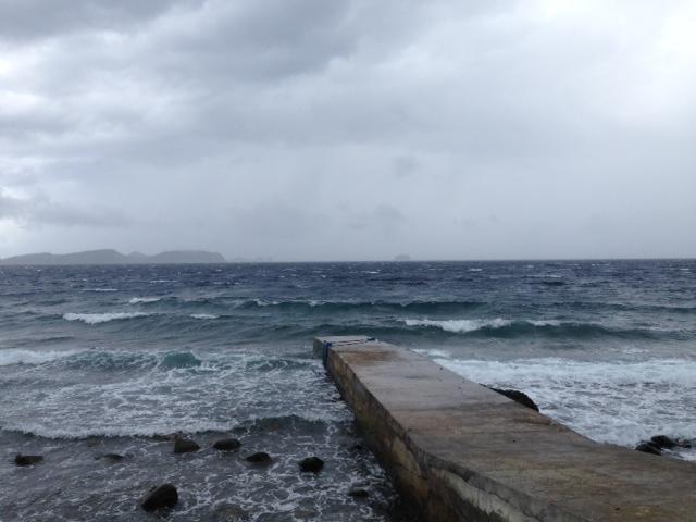 昼から強風
