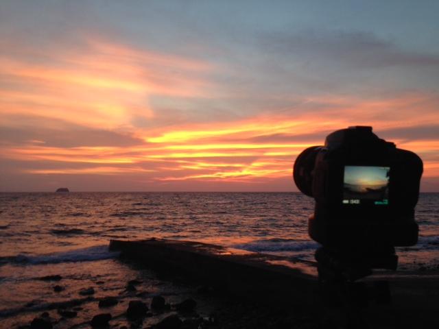 アニラオの夕日撮影
