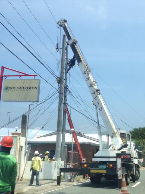 アニラオの電気工事