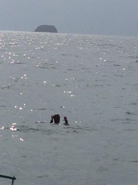 ダイブマスター講習立泳ぎ