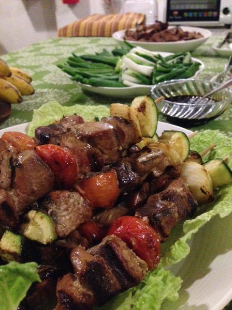 アニラオの夕食