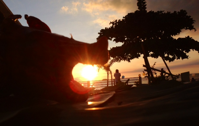 レチョンと夕日