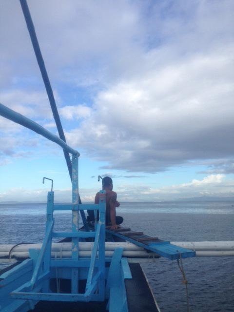 バンカーボートで海へ