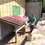 発電機の屋根設置完了