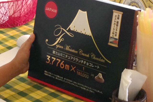 富士山チョコの箱