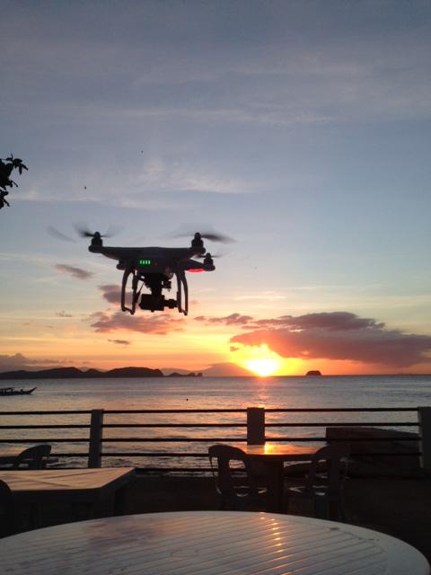 ドローンでフィリピンの夕日撮影