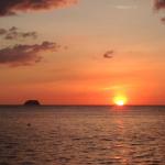 ルバング島に落ちる夕日