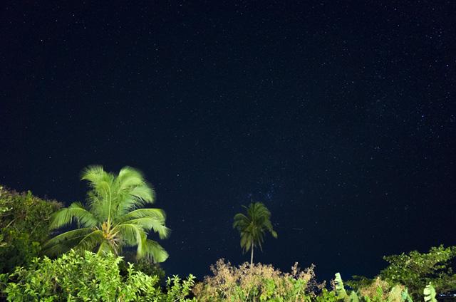 リゾートから見た南の星空