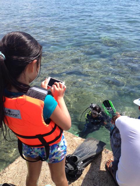 マニラ近郊で体験ダイビング
