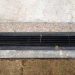 11日、排水溝に蓋を付けて完成。