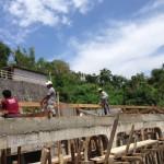 16日、屋根の骨格作成開始。