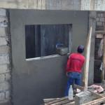 21日、各部屋の外壁仕上げ。
