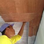 5日、天井の塗装。