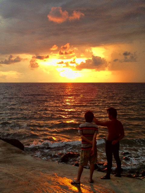 フィリピンの夕日