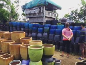 ヴェトナム製の植木鉢