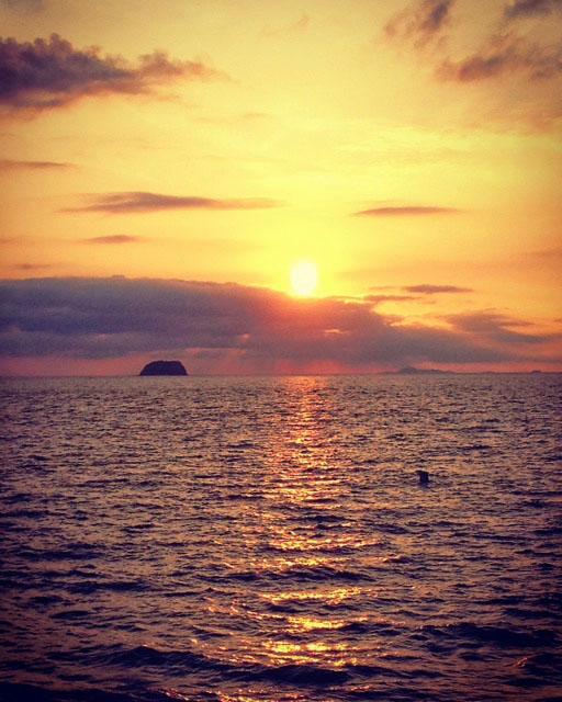 フィリピンの夕日。