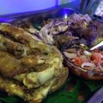 今年は豚の丸焼き(レチョンバボイ)じゃなくて、クリスピーパタ。豚足の料理です。味は豚の丸焼きより上。