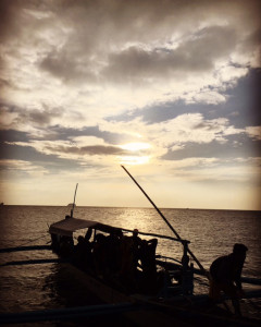 フィリピンの夕焼け