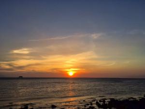 フォリピンの夕日