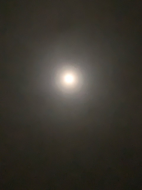 火山灰と月