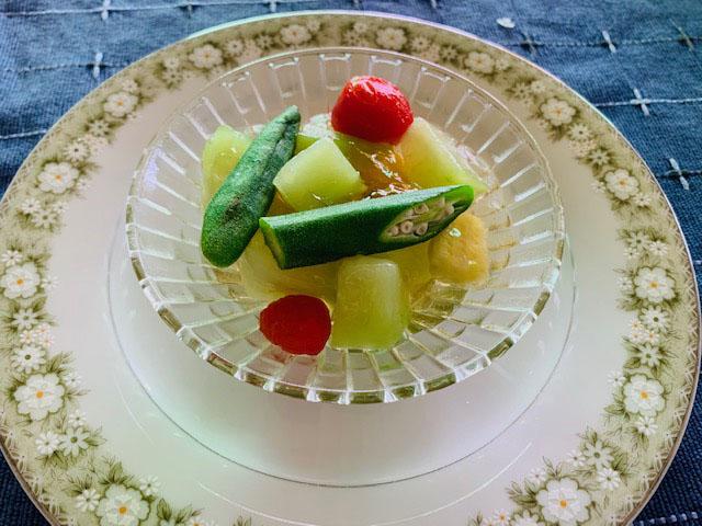 ヴィラマグダレナの夏野菜のジュレ